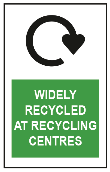 CS Pouches Widely Recycled At Centres Label